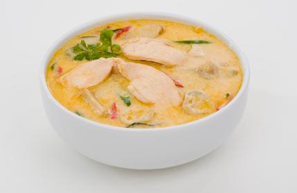 Thai Chicken Coconut Soup (using Native Chicken)